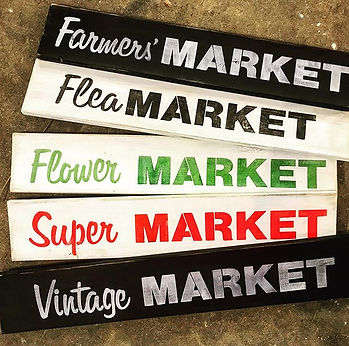 Old Sign Stencilled Market Signs!! _____