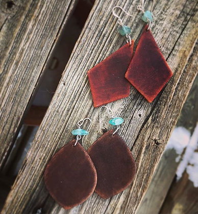 'Wide n' Wild' Leather Danglers