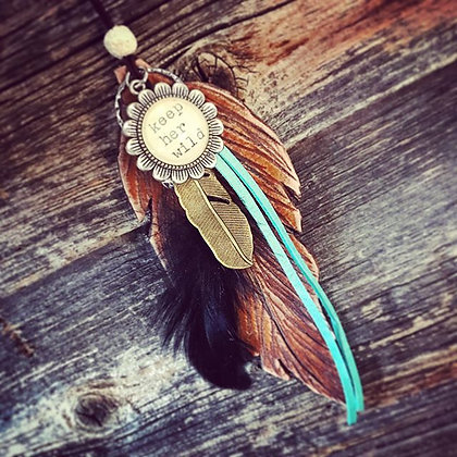 'Wild Feather' Car Charm