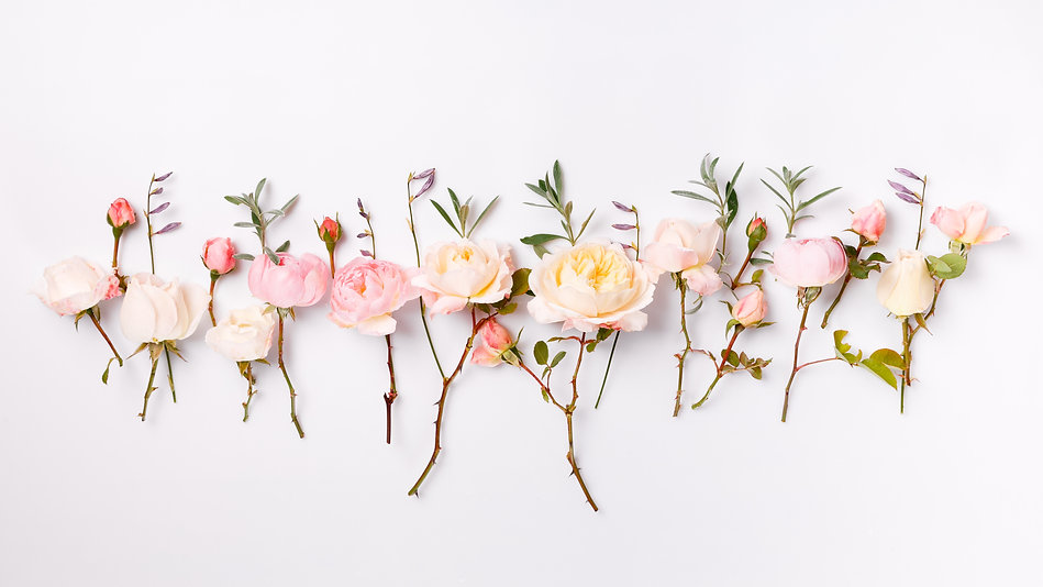 Festive flower English rose composition