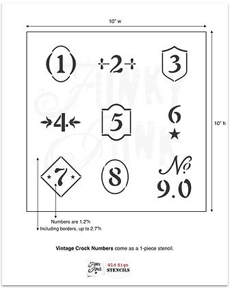 Vintage Crock Numbers