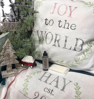 IOD Stamped OR Old Sign Stencilled PILLOW Thursday Dec 5th 7-9:30