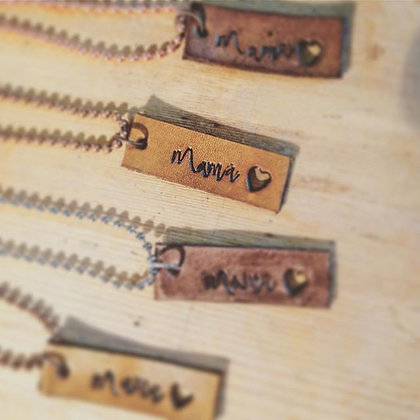 'Mama's Love' Leather Pendant