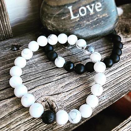 'Yin Yang' Couples Bracelets