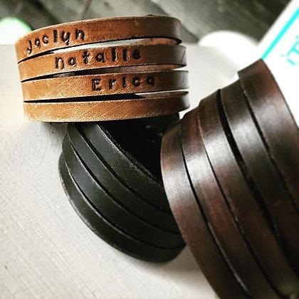 'Split Cuff' leather bracelet