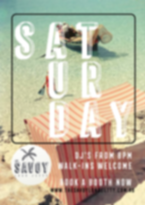 saturday djs and drinks at savoy bar
