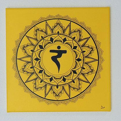 - Mandala Chakra Solaire- 40X40cm