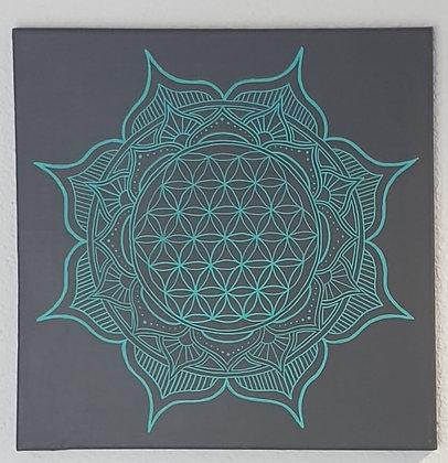 - Mandala Fleur de Vie - 40x40cm