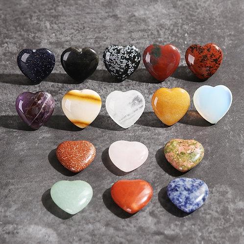 1 Pcs Natural Quartz Heart Shape Crystal Reiki Chakra Healing Stones