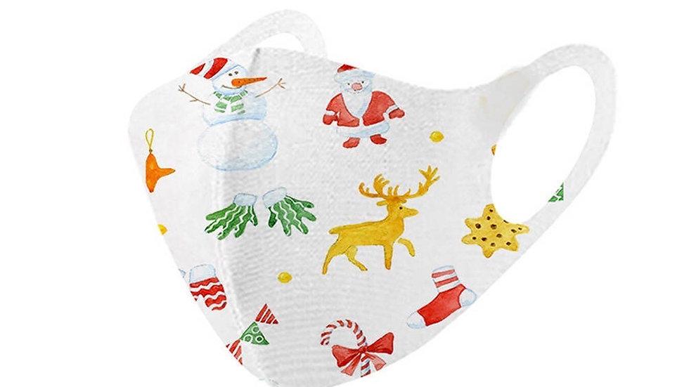 White Holiday Mask