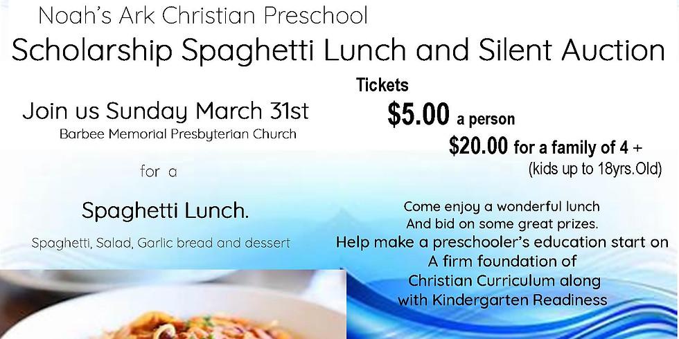 Noah's Ark Christian Preschool Spaghetti Fundraiser