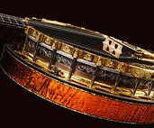 Banjo side profile, Hand engraved, Solid carved heel design,