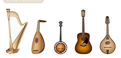Bluegrass, Folk, Celtic Irish Instruments collection, how beautifully these can interact for limitless musical expressions