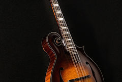 Mandolin, Beautiful F style Mandolin with scroll design, F Holes, and exquisite Flame maple
