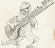 Beloved in India, fascinating and enchanting, the Sitar is th epitomy of utilizing vibrating strings to create sympathetic vibrations