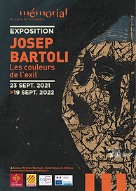 Mémorial du camp de Rivesaltes - exposition Josep Bartoli les couleurs de l'exil du 23 sept 21 au 19 sept 22