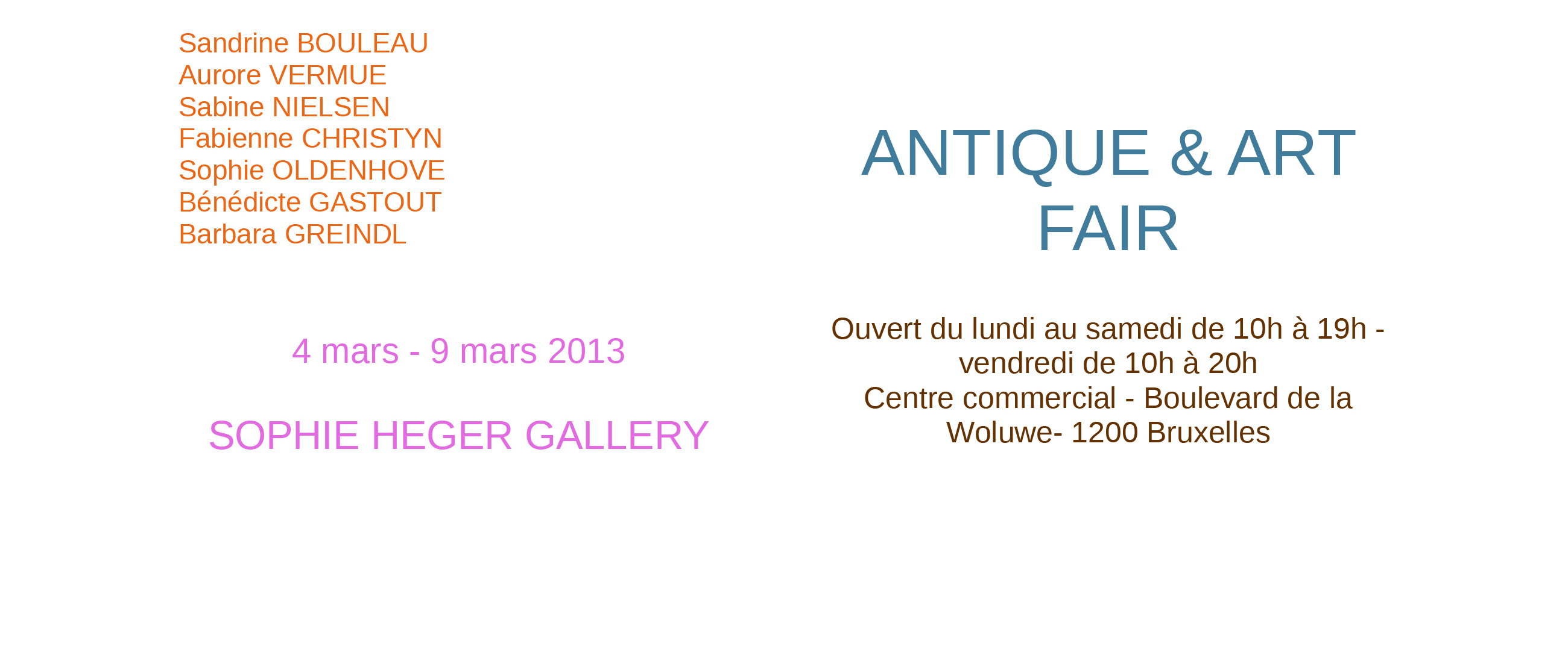 Antique Art Fair