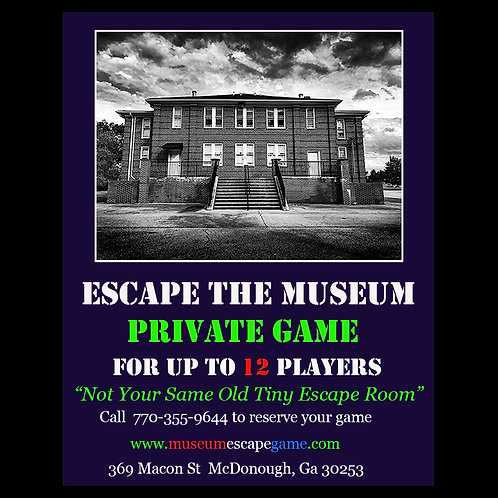 Escape the Museum Private Game Gift Card-12 Players