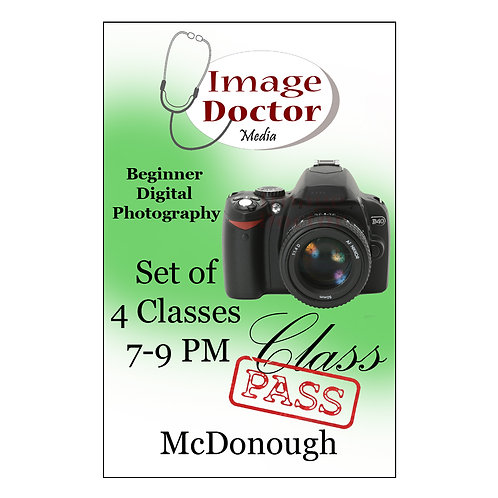 Beginner Digital Photography -Jan  5, 12, 19, 26 -2021