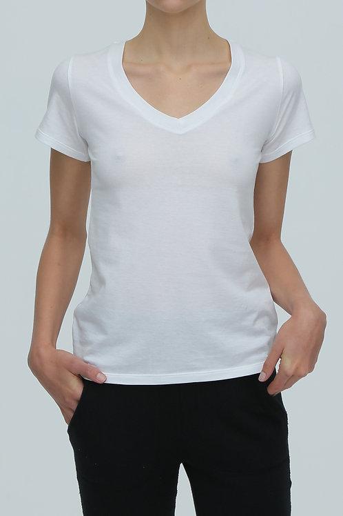 Vネック 半袖Tシャツ