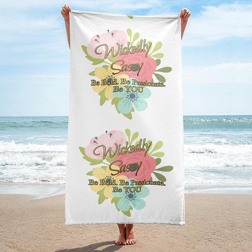 Beach Towel - Wickedly Sassy Flower Design