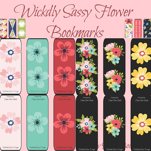 Flower Bookmarks Collection
