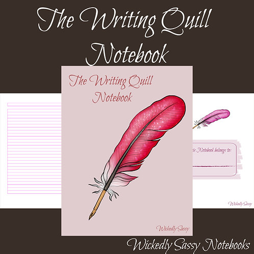 Writing Quill Notebook Pink