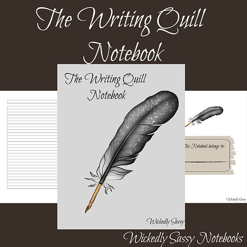 Writing Quill Notebook Black