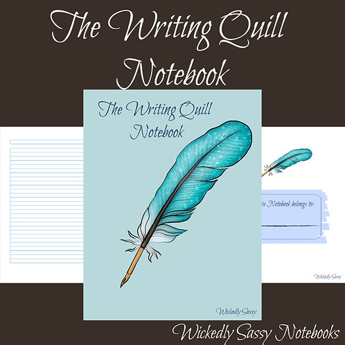 Writing Quill Notebook Blue
