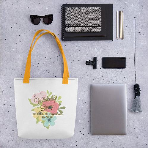 Tote bag - Wickedly Sassy Flower Design