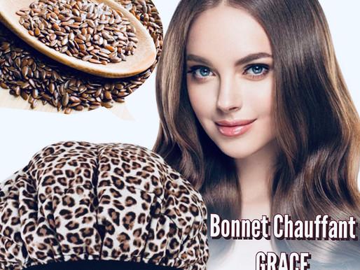 Stimule la pousse de tes cheveux avec le Bonnet Chauffant aux graines de LIN...