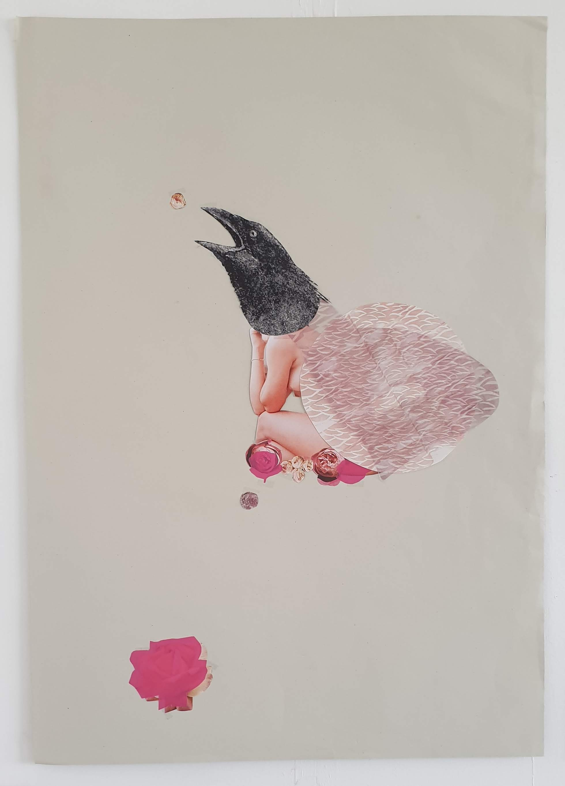 """""""Bird Goddess - Raven"""" Collage 2016"""