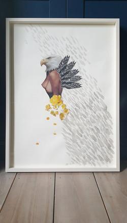"""Bird Goddess - Eagle"" Collage 2020"