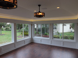 Room Addition with Trim Accent