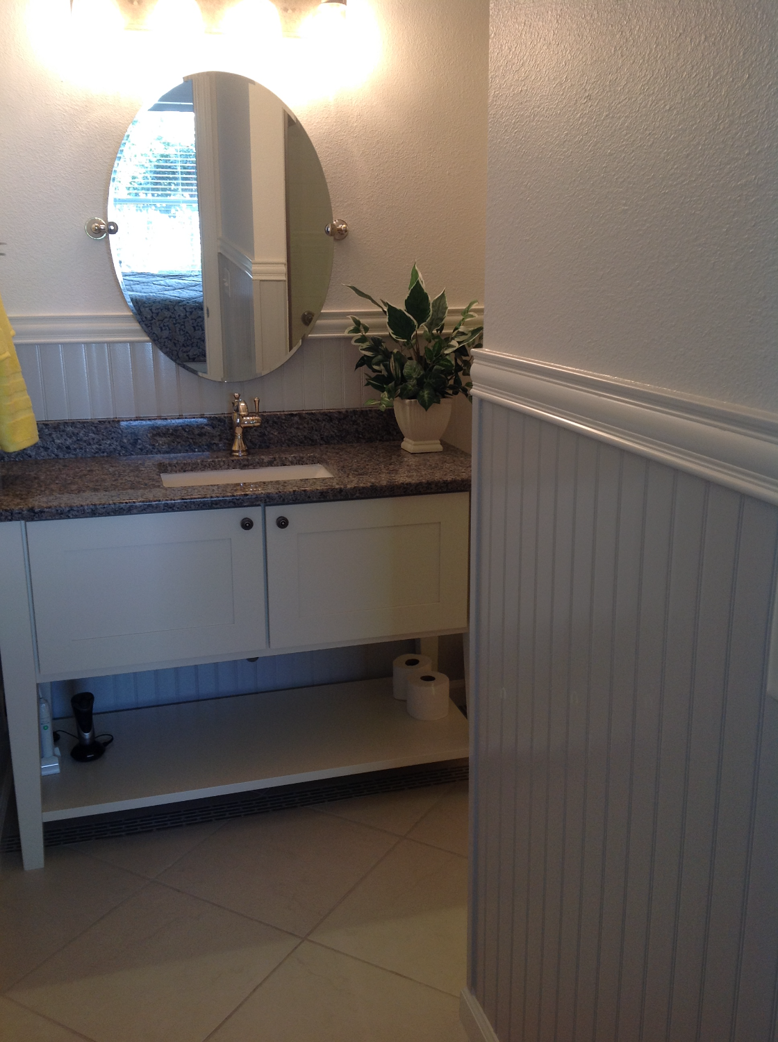 Master Bath with Wainscotting