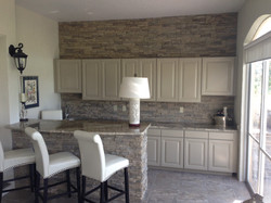 Wet-Bar with Stone Accent