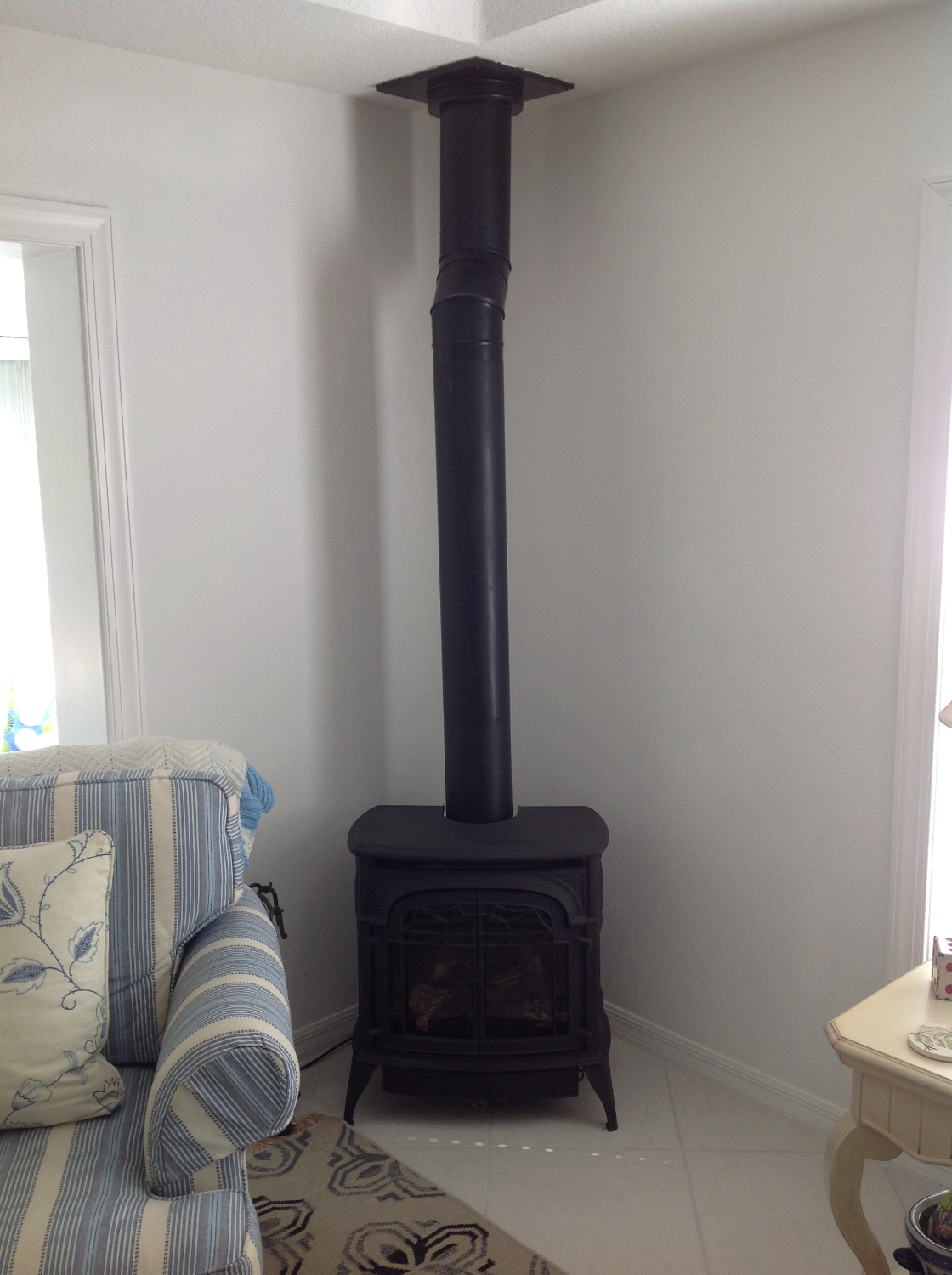 Iron Gas Fireplace