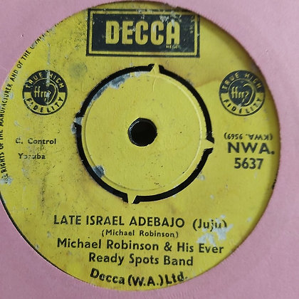 Michael Robinson & His Ever Ready - Mami Water [Decca] Nwa 5637
