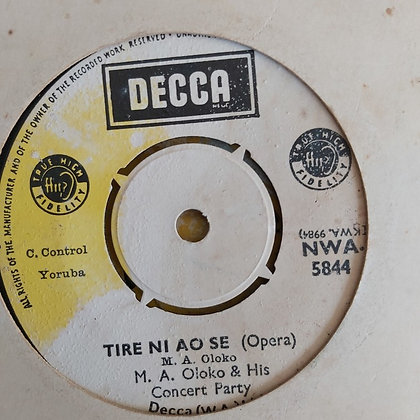 M.O. Oloko & His Concert Party - Nigeria 10th Aniversary [Decca] Nwa 5844