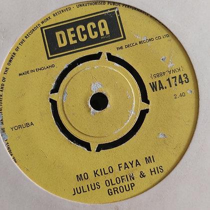 Julius Olfin & His Group - Moti Boko De Calabar [Decca] WA 1743