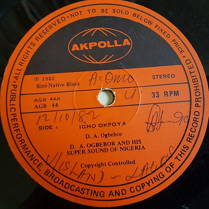 D. A. Ogbebor And His Super Sound Of Nigeria [Akpolla]