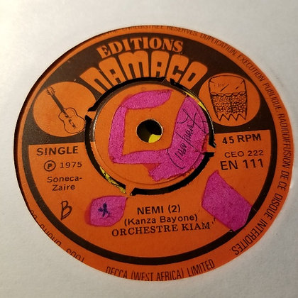 Orechestre Kiam - Nemi [Editions Namaco] 1975