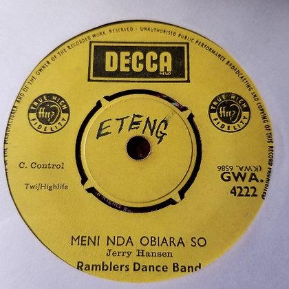Ramblers Dance Band – Agyanka Dabre [Decca]