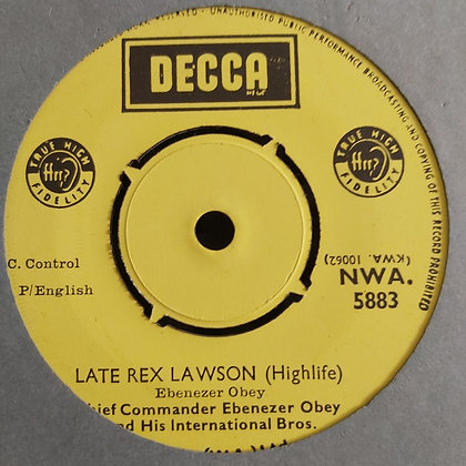 Ebenezer Obey And His International Bros. – Face To Face [Decca] Nwa 5883