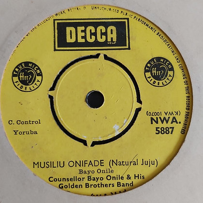 Consellor Bayo Onile - Suraju Bakare [Decca] Nwa 5887