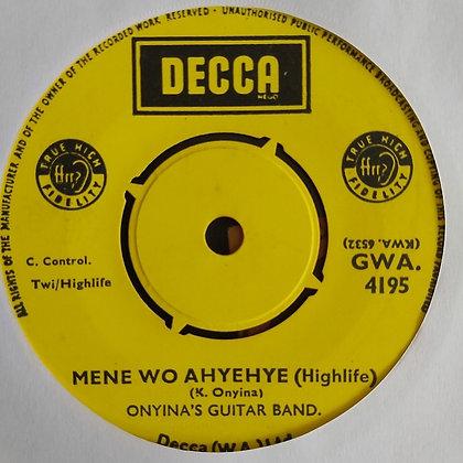 Onyina's Guitar Band - Nyame Bekyere [Decca] Ghana Highlife