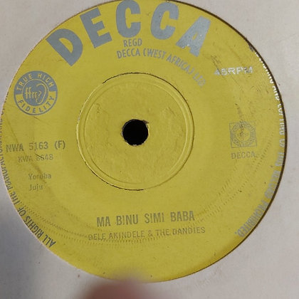Dele Akindele & The Dandies - Awon Angeli Nkorin [Decca] Nwa 5163