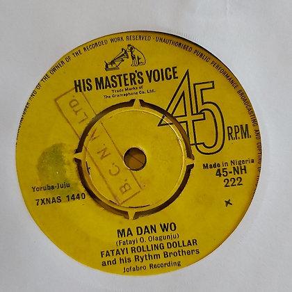 Fatayi Rolling Dollar - Ma Dan Wo [HMV - 60's]