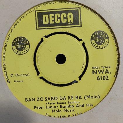 Peter Junior Bambo - Ban Zo Sabo Da Ke Ba [Decca] Nwa 6102