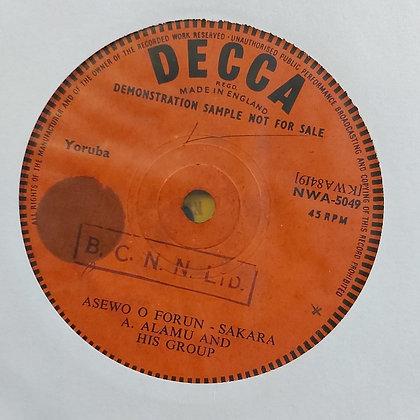 A.Alamu & His Group - Asewo O. Forun [Decca]